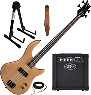 $269 Get Dean Edge 09 Satin Natural Bass Guitar, Peavey Max 126 Amp, Suede Strap, St&