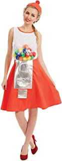 Womens Gumball Machine Costume Adults Candy Dispenser Dress Outfit
