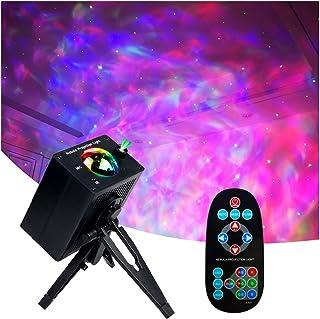 پروژکتور ستاره ، چراغ های مخصوص اتاق خواب ، حالت های روشنایی LED Night Wave Ocean Wave Ocean Wave Movable RGB 8 با کنترل از راه دور و صدای موسیقی ، پروژکتور نور ستاره برای اتاق خواب / تئاتر خانه / مهمانی / KTV (سه پایه)