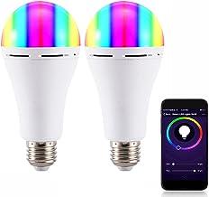 Smart WIFI LED Gloeilampen, 11W Compatibel Met Alexa En Google Home (geen Hub Vereist), RGBCW Multi-Color, Warm To Cool Wh...