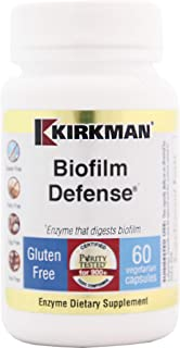 Kirkman Biofilm Defense || 60 Vegetarian Capsules || enzymes || Free of Common allergens || Enzyme That digests biofilm and Harmful Bacteria