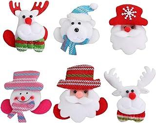 KESYOO 6pcs LED Light Up Christmas Brooches Pins Reindeer Santa Bear Pins Christmas Party Favors Gifts