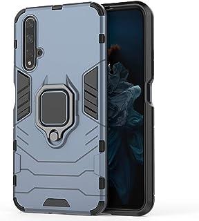 جراب خلفي صلب هجين 20 بتصميم الرجل الحديدي 2 في 1 شديد التحمل لهاتف Huawei Honor 20 - أزرق