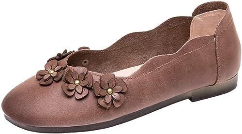 mujerzapatos zapatos de mujer, zapatos de Cuero Poco Profundos, Guisantes Planos, zapatos de mujer Puntiagudos,38