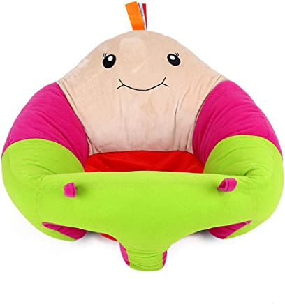 LAIYYI 1pc Baby Support Seat  Soft Baby Learning Sit Chair Children Cartoon Plush Sofa Baby Protector Infant Chair