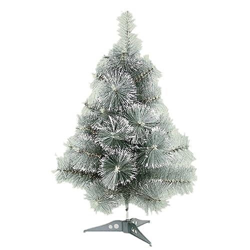 SAILUN 90cm Arbre de Noël Artificiel Sapin, Vert Nature matériau PVC avec Pied en métal (90cm, Vert Aiguilles de pin avec Effet de Neige)