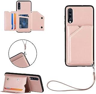 Ttimao Compatible con Funda Samsung Galaxy A70/A70S [Protector de Pantalla] con Tarjetero y Soporte Función PU Cuero Flip ...