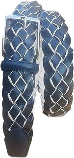 ESPERANTO Cintura unisex Intrecciata di Pelle foderata in cotone -alt 3,5 CM
