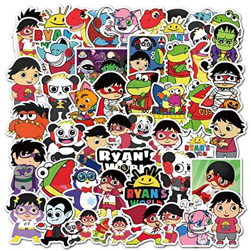 50 unids Ryan Cartoon World Sticker Personalidad Creative Diy Niños Scrapbook Decoración Notebook Computer Impermeable Scooter Vinilo Adulto Adolescente Vsco Graffiti Sticker