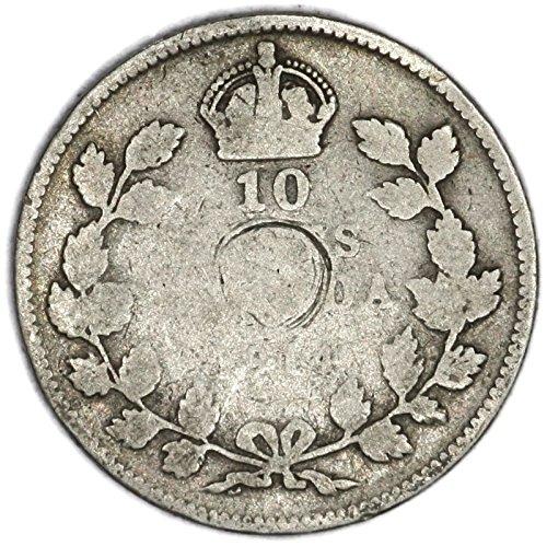 1914 CA George V Canadian Silver Dime KM# 23 10 Cent FAIR