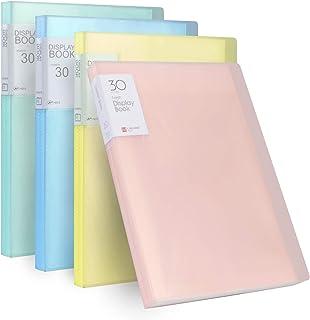 Reliure Protège-Documents A4 Affichage Livre Présentation avec Couverture Translucide, Dossier de Fichiers 30 Pochettes, C...