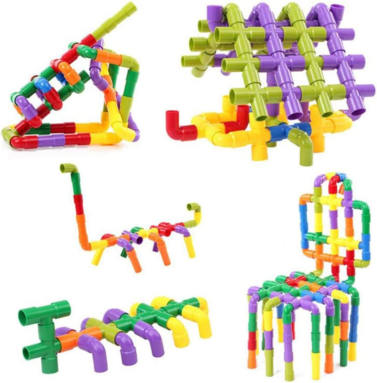 servicio honesto HJXJXJX 72 piezas de rompecabezas rompecabezas rompecabezas pelea de lucha de plástico montado bloques de tubos Niños ensamblados juguetes  garantizado