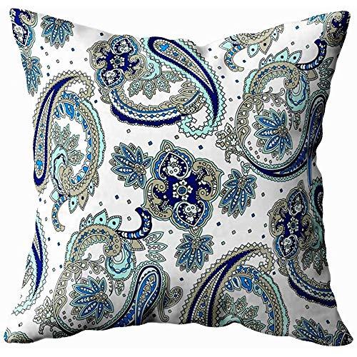 Jonycm Kussensloop Vintage Bloemen Patroon Traditionele Pickles Ornament Stof Textiel Kaart Achtergrond Inpakpapier Sjabloon Voor Bank Thuis Decoratieve Kussensloop 45X45Cm Kussenslopen