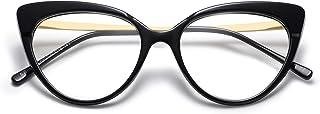 Cateye Blue Light Blocking Glasses Women,SOJOS Anti Eye Strain Computer Glasses Non Prescription SJ5056