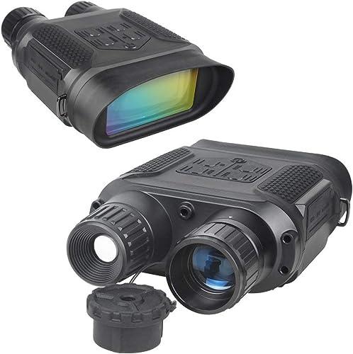 Télescope De Vision Nocturne, Jumelles De Chasse Infrarouges Numériques 640p HD Digital, équipées d'un écran LCD De 2 Pouces Et d'une Caméra Infrarouge à Grossissement 7X, Jour Et Nuit