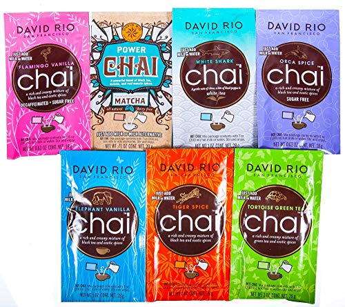 Probierpaket David Rio Chai Latte - 7 Sorten im Portionsbeutel 168g