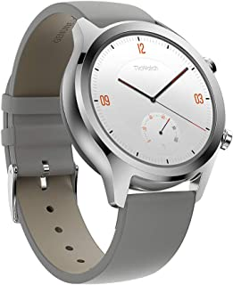 TicWatch スマートウォッチ GPS Wear OS by Google 多機能 ios&Android対応 IP68防汗/防水 日本語対応 型番C2 シルバー