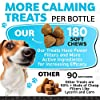 Hemp Calming Treats for Dogs - Made in Usa - 180 Soft Dog Calming Treats - Aids Stress, Anxiety, Storms, Barking, Separation and More - Valerian Root, L-Tryptophan, Chamomile - Hemp Oil for Dogs #4