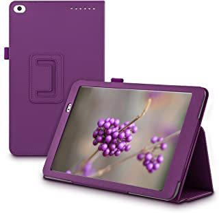 kwmobile Case Compatible with Huawei MediaPad T1 10 - Slim PU Leather Tablet Cover with Stand Feature - Violet