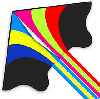 Mint's Colorful Life Kite for Adults Kids, Easy to Fly Rainbow Delta Large Kite