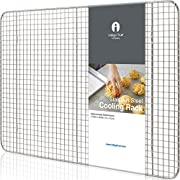 """Stainless Steel Cooling Rack Half size - Commercial Grade Metal 11.5"""" x 16.5""""   1 Piece   Cooking Rack Designed To Fit Perfectly Into Baking Half Sheet Pan"""