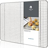 CRISPY RESULTS: Your bacon and chicken wings will have CRISPIER skin and French Fries will not be soggy anymore! Our wired rack is elevated by 6 legs which allows AIR FLOW to circulate underneath to either cook or cool food. Best kitchen tool of choi...