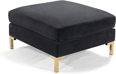 Amazon.com: Iconic Home Bina mesa de centro otomano, 2 capas ...