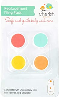Replacement Filing Pads for Electric Baby Nail Trimmer - Cherish Baby Care and bblüv Trimö - Includes 4 Filing Discs for Newborn to Toddler