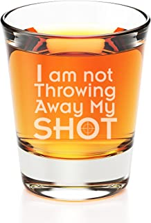 I am Not Throwing Away My Shot Engraved Fluted Shot Glass