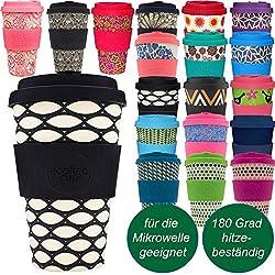 LS-Design Bambus Coffee to Go Becher 400ml Basket Case Ecoffee Cup Ver. 2.0
