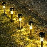 GIGALUMI - Paquete de 16 luces solares para pasillo, luces solares para...
