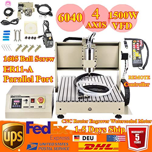 Check Out This Power Milling Machines,1.5KW VFD 4 Axis CNC 6040 Router Engraver Engraving 3d Machine...