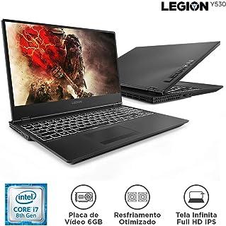 """Notebook Gamer 0 i7-8750H 128 SSD GTX1060, 6FHD 81M70000BR, Lenovo, Legion Y530, Intel Core i7, 16 GB RAM, HD 1000(GB), FHD, Tela 15.6"""", windows_10, Preto"""