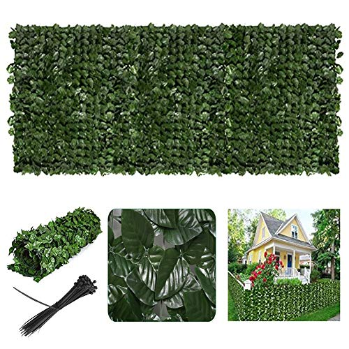 Artificial Leaf Fence Garden Privacy Screen Ivy Hedge Scroll Maintenance-free Can be Cut Freely Suitable for Use On Walls, Fences And Gazebos (Color : Green, Size : 1x1m)