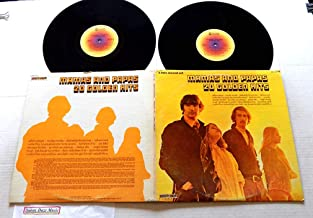 The Mamas & The Papas 20 GOLDEN HITS - ABC/Dunhill Records 1973 - USED DOUBLE Vinyl LP Record Album - 1974 Reissue Pressing DSX-50145 - California Dreamin' - Monday Monday - Go Where You Wanna Go