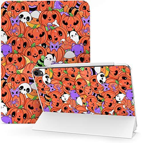 Lex Altern Case for Apple iPad Pro 12.9 2020 11 Air 3 2 10.2 8th Gen 2019 2018 10.5 inch Mini 5 4 9.7 Flip Spooky Ghost Cat Clear Auto Wake Sleep Cute Protective Kawaii Pumpkin Halloween Cover mch011