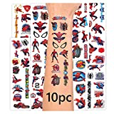 Spiderma_n Tattoos 10sheets Temporary Tattoos Kit for Kids Boys Adults Spiderma_n Birthday Party Supplies in Toys & Games
