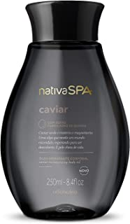 Nativa Spa Body Oil Caviar by O Boticario | Ameixa Óleo Hidratante Corporal | Fragranced Moisturizing Oil with Purified Qu...