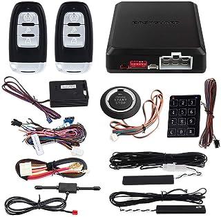 $96 » EASYGUARD EC002-NS PKE Passive Keyless Entry Car Alarm System Remote Start Starter Push Start Stop Button Touch Password E...