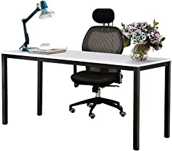 Need Computer Desk 63 inches Large Size Desk Writing Desk with BIFMA Certification Workstation Office Desk, White Black AC...
