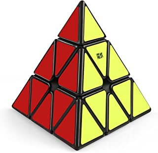 Coogam Moyu Magnetic Pyramid Speed Cube Pyramid Puzzle Toy (Black)