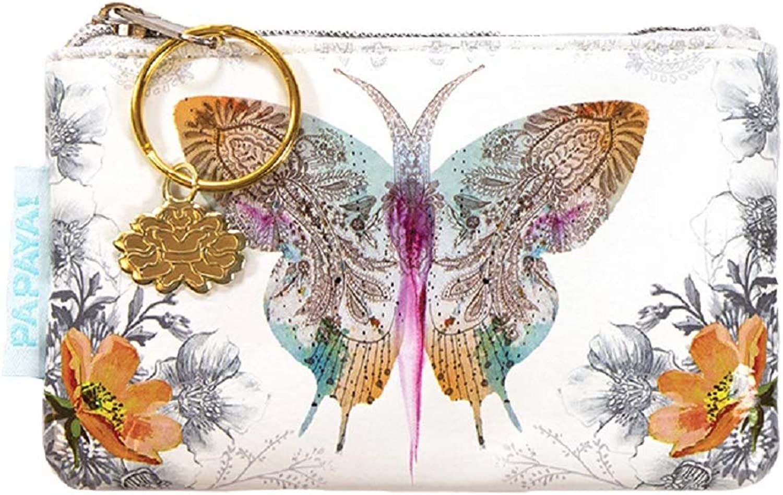 Papaya Art Paisley Butterfly Coin Purse.