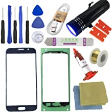 For Samsung Galaxy S6 Screen Replacement---[DIRECT SCREEN], Sunmall Front Outer lens Glass Screen Replacement Repair Kit LCD Glass Repair Kit For Samsung Galaxy S6 G920 G920A G920P G920T G920V (Black)