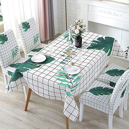 LIUJIU Mantel rectangular con diseño de jacquard, resistente al encogimiento, a prueba de derrames, a prueba de polvo, para cocina, comedor, patio, fiesta al aire libre, 130 x 180 cm