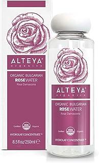Alteya Organic agua floral de rosa (rosa damascena) 250 ml – botella - 100% puro orgánico bio producto con certificado USD...