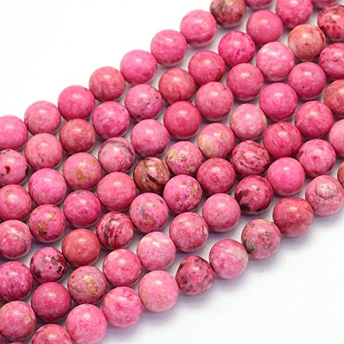 Piedras preciosas de ágata de piedras preciosas, selección de colores, 8 mm, diseño de joyas, accesorios para manualidades (rosa)