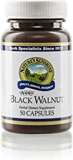 Nature's Sunshine Black Walnut, ATC Concentrate, 50 Capsules   Helps Maintain The Intestinal System, Soothes Irritated Tissues, and Supports The Immune System