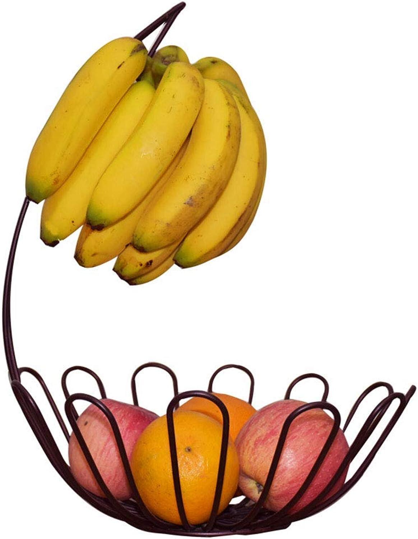 KISlink Stockage de Fruits Plaque de Fruits Salon Pendaison Banana Fruit Bowl Hook Basket Ménage Drain Porte-Fruits (Couleur  MultiCouleure)