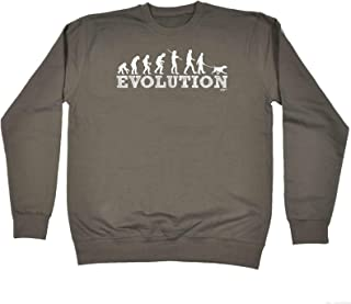 123t Funny Novelty Funny Sweatshirt - Evo Dog Walker - Sweater Jumper