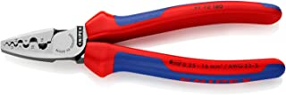 KNIPEX 97 72 180 Alicate para entallar punteras con fundas en dos componentes 180 mm